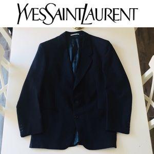 Yves Saint Laurent Mens Blazer Blue